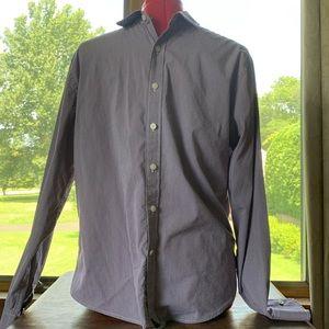UNTUCKit Plum and White Gigham Button Down Shirt